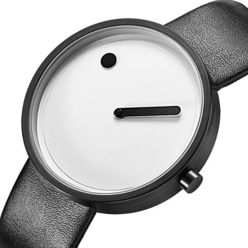 Designerski zegarek GeekThink biało-czarny