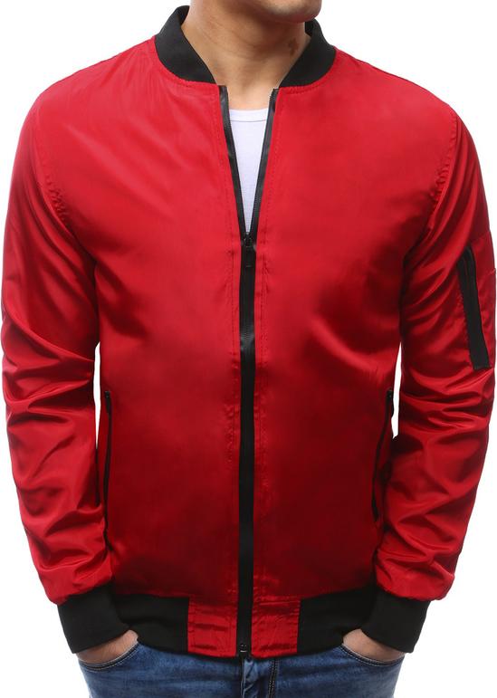 Dstreet kurtka męska bomber jacket czerwona (tx2170)