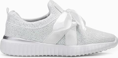 Edoti buty sportowe ze wstążką 131lr białe
