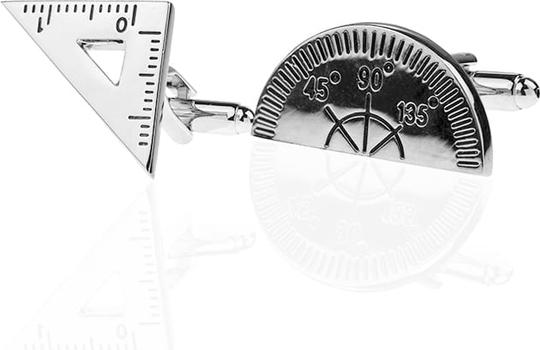 Em Men`s Accessories Spinki do mankietów tematyczne srebrne matematyczne EM 31
