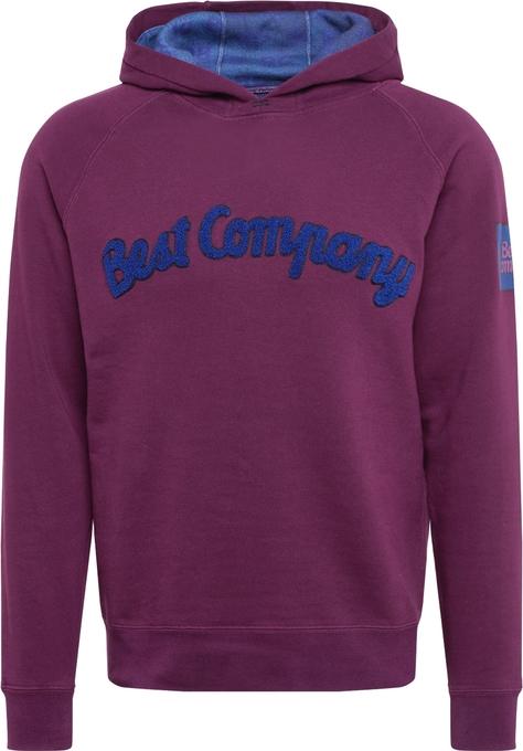 Fioletowa bluza Best Company z dresówki