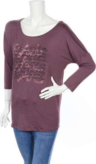 Fioletowa bluzka Nappies z długim rękawem z okrągłym dekoltem