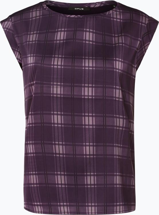 Fioletowa bluzka Opus bez rękawów z okrągłym dekoltem w stylu casual