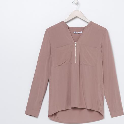 Fioletowa bluzka Sinsay