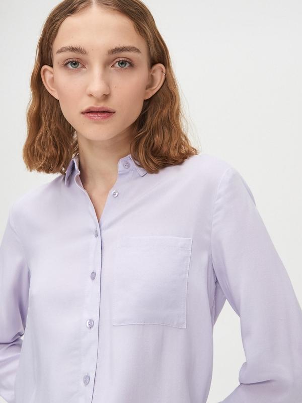 Fioletowa koszula Cropp z długim rękawem