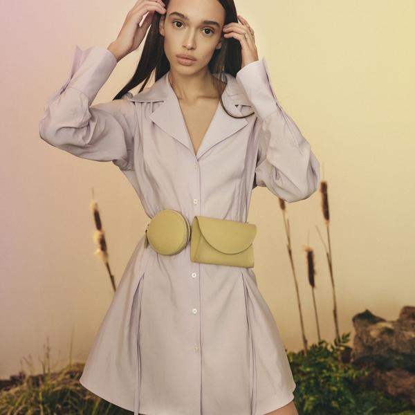 Fioletowa koszula Reserved w stylu casual