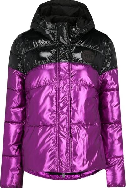 Fioletowa kurtka Pinko w stylu casual krótka
