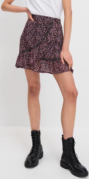 Fioletowa spódnica Mohito z szyfonu
