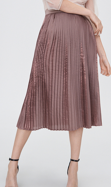 Fioletowa spódnica Sinsay midi