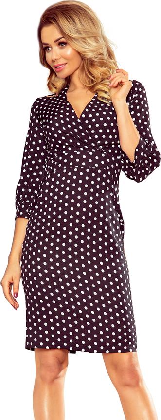 Fioletowa sukienka 4myself.pl z długim rękawem