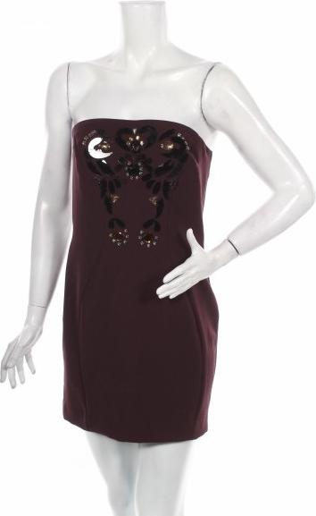 Fioletowa sukienka Almari gorsetowa