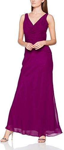 Fioletowa sukienka amazon.de z dekoltem w kształcie litery v maxi
