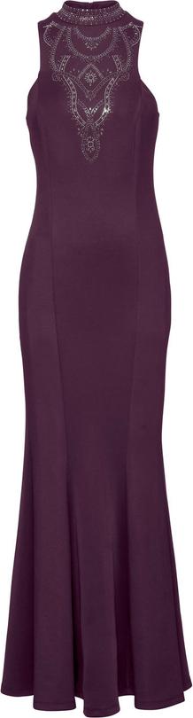 Fioletowa sukienka bonprix BODYFLIRT boutique bez rękawów