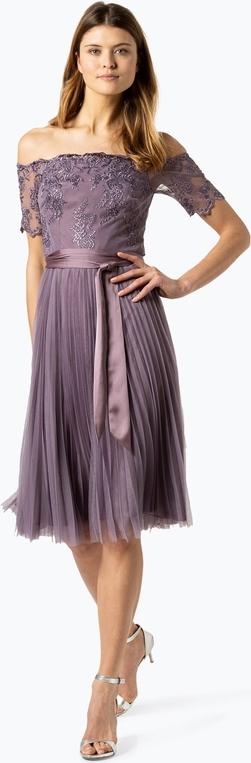 Fioletowa sukienka Coast midi w stylu glamour