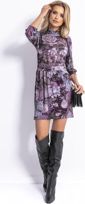 Fioletowa sukienka Fobya w stylu casual