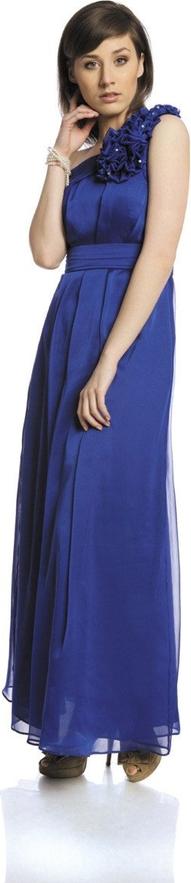 Fioletowa sukienka Fokus bez rękawów