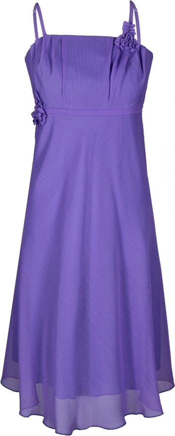 Fioletowa sukienka Fokus bez rękawów mini z szyfonu