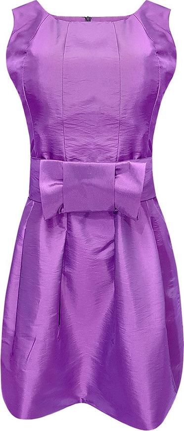 Fioletowa sukienka Fokus mini bez rękawów