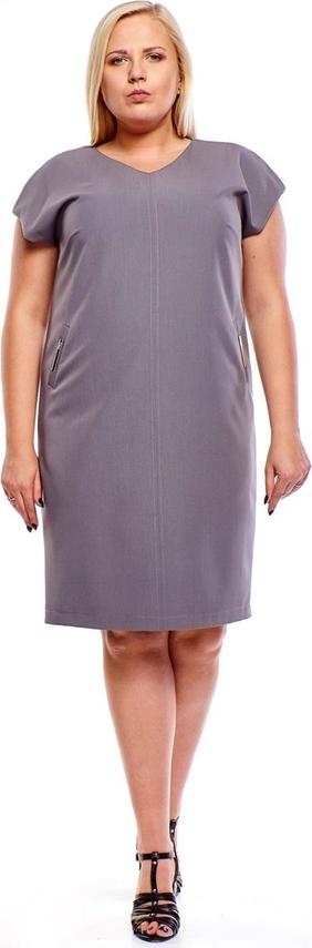 Fioletowa sukienka Fokus oversize mini z dekoltem w kształcie litery v