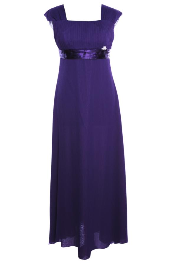 Fioletowa sukienka Fokus oversize z szyfonu w stylu casual