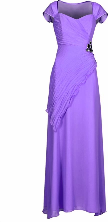 Fioletowa sukienka Fokus z dekoltem w kształcie litery v