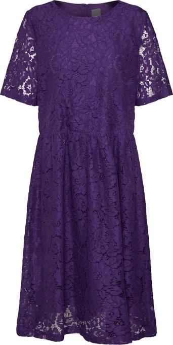Fioletowa sukienka Ichi z bawełny