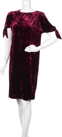Fioletowa sukienka Joanna Hope mini z okrągłym dekoltem prosta