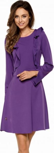 Fioletowa sukienka Lemoniade z długim rękawem