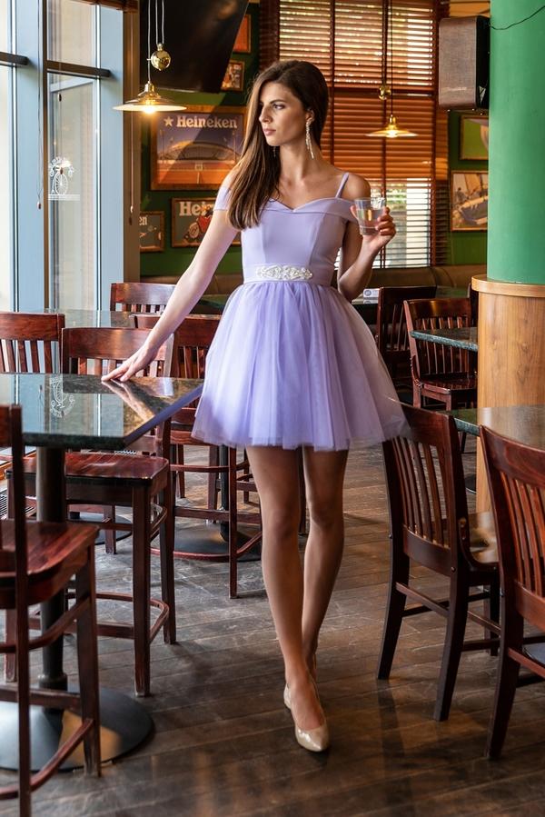 Fioletowa sukienka Maravilla Boutique mini z tiulu
