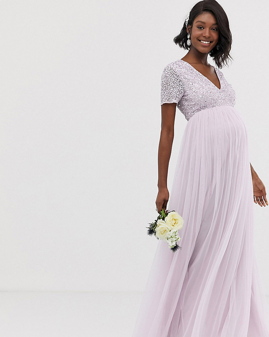 Fioletowa sukienka Maya Maternity