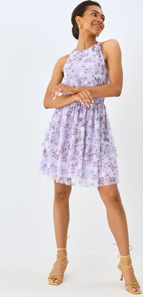 Fioletowa sukienka Mohito na ramiączkach