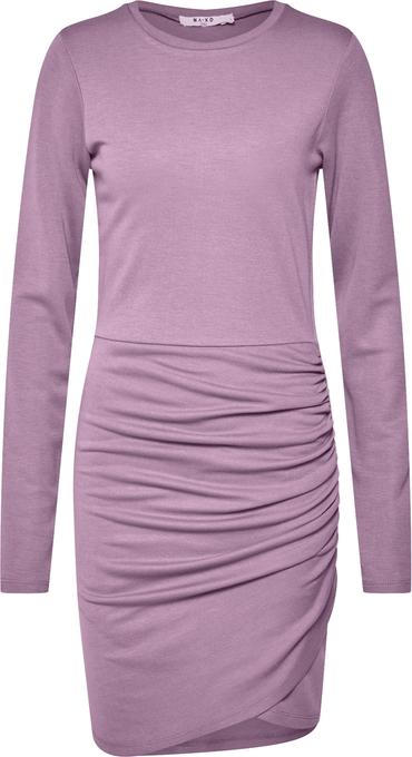Fioletowa sukienka NA-KD mini w stylu casual dopasowana