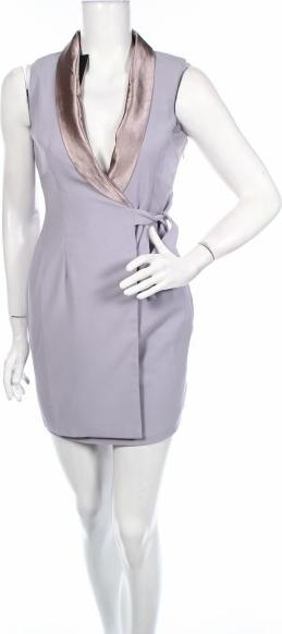 Fioletowa sukienka NaaNaa bez rękawów z dekoltem w kształcie litery v