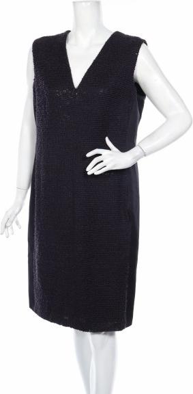 Fioletowa sukienka Rena Lange prosta bez rękawów