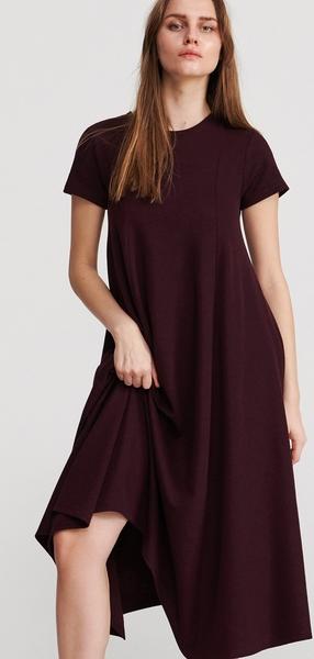 Fioletowa sukienka Reserved w stylu casual maxi