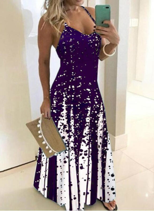 Fioletowa sukienka Sandbella maxi