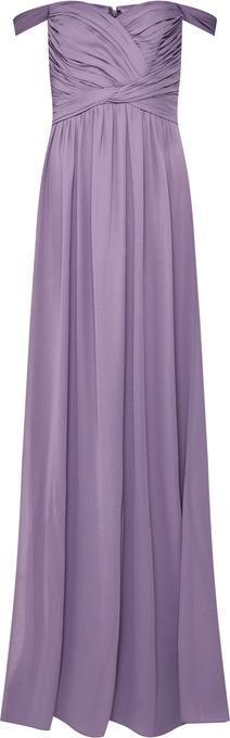 Fioletowa sukienka Star Night hiszpanka z szyfonu maxi