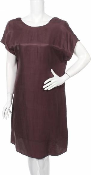 Fioletowa sukienka talk about z krótkim rękawem mini
