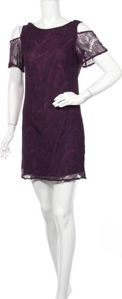 Fioletowa sukienka Top Secret mini z krótkim rękawem prosta