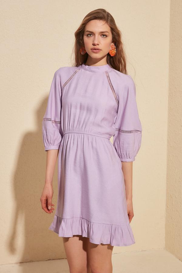 Fioletowa sukienka Trendyol mini w stylu casual