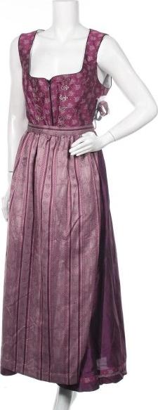 Fioletowa sukienka Ulla Popken na ramiączkach