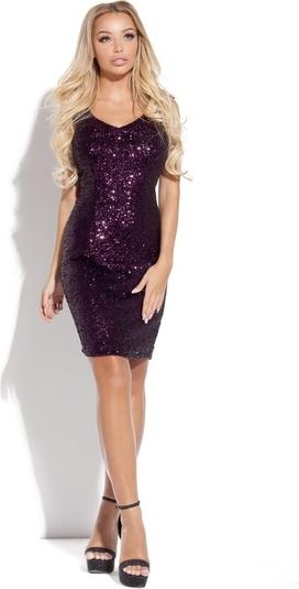 Fioletowa sukienka WIBS w stylu glamour