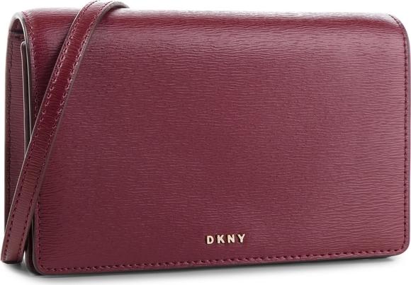 Fioletowa torebka DKNY na ramię