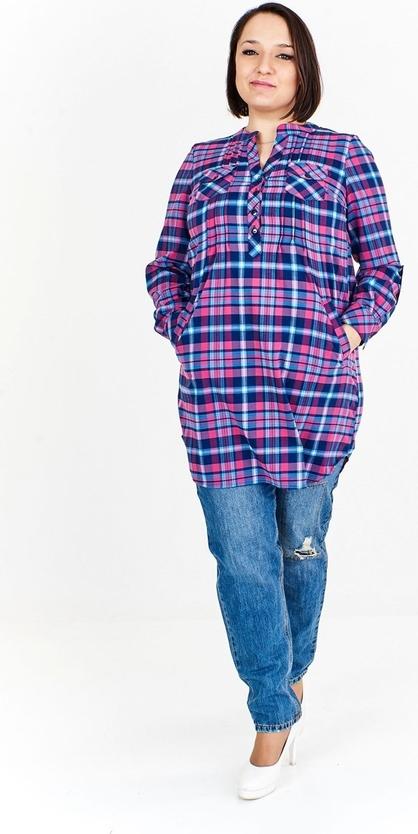 Fioletowa tunika Fokus w stylu casual