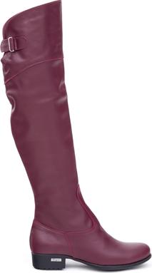 Fioletowe kozaki Zapato w stylu casual ze skóry na zamek