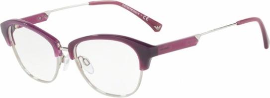 Fioletowe okulary damskie Emporio Armani