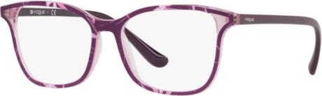 Fioletowe okulary damskie Vogue w stylu glamour Akcesoria Damskie Okulary damskie AC VUCRAC-2 70% ZNIŻKI