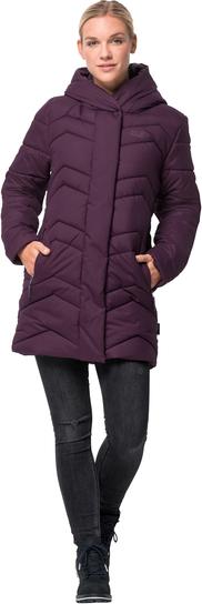 Fioletowy płaszcz Jack Wolfskin w stylu casual