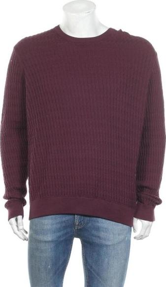 Fioletowy sweter 1904 w stylu casual z okrągłym dekoltem