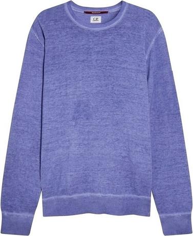Fioletowy sweter C.P. Company z okrągłym dekoltem w stylu casual